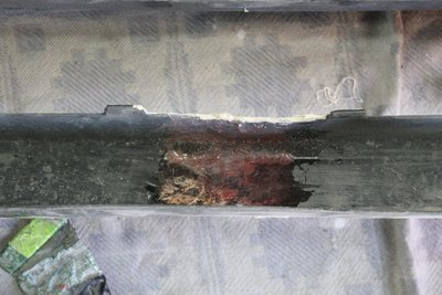 7 марта, склеена и прошлогодняя трещина посередине бампера.