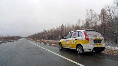 По дороге в Благовещенск попали в туман