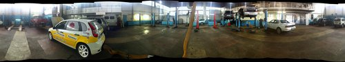 Панорама сервисного центра. 4 тысячи пикселей по ширине, 650 кБ