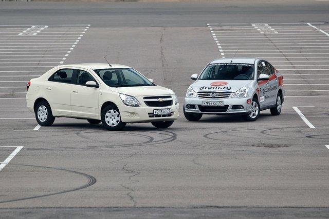 Nissan Almera против Chevrolet Cobalt