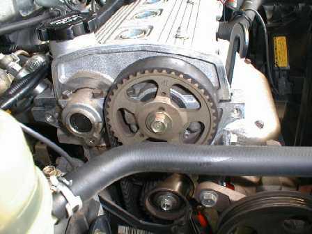ремень ГРМ на двигателе Toyota 4E-F