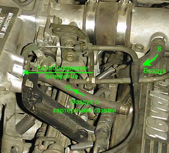 вентиляция картера Suzuki Eskudo