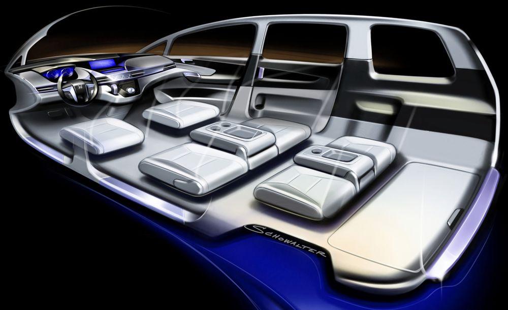Концепт Honda Odyssey, интерьер представлен только на эскизе