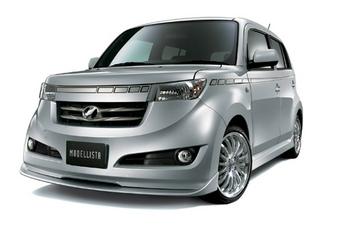Кит аксессуаров для Toyota bB в комплектациях ZQ, ZX и SX от Modellista International под названием Modellista Version