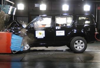 Nissan Pathfinder на краш-тестах EuroNCAP