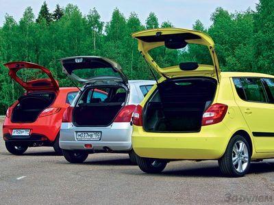 Сравнительный тест в классе компакт: Mazda2, Skoda Fabia и Suzuki Swift.