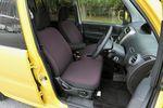 Внешне передние сидения диванного типа похожи на те, что стоят в салоне eK, однако над ними пришлось «поколдовать», чтобы они стал лучше держать туловище сидящего водителя. Сзади ставятся сидения, заимствованные у Toppo BJ. Внутренние облицовочные панели дверей оказались еще более качественными, чем у eK Wagon. Кресло водителя можно регулировать по высоте, диапазон регулировки — 30 мм. Стекла в салоне — термически устойчивые, и к тому же не пропускают ни ультрафиолет, ни инфракрасные лучи.
