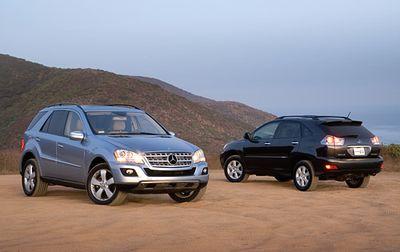 Дизель против гибрида: сравнение Mercedes-Benz ML320 Bluetec и Lexus RX 400h.