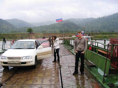 Переправа, дождь, ветер, я и моя верная «Корона »-блондинка :-)