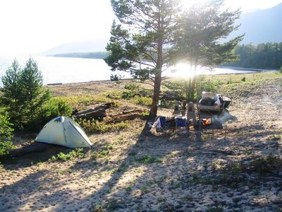 Лагерь на Баргузинском заливе.