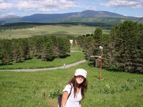 Вид на Семинский перевал и г. Сарлык.