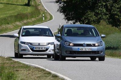 Honda Insight и VW Golf Bi-Fuel представляют разные системы.
