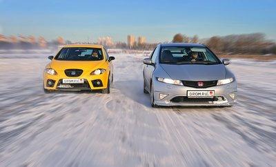 Seat Leon Cupra и Honda Civic Type R
