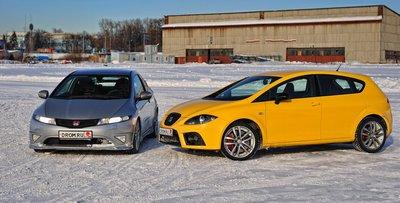 Honda Civic Type R и Seat Leon Cupra