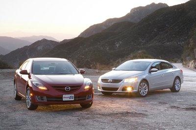 Mazda6 и VolkswagenCC заставляют задуматься о практичных седанах в аспекте премиум- класса.