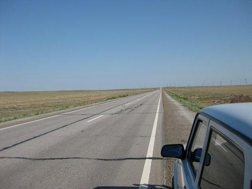 Бескрайние степи центрального Казахстана.