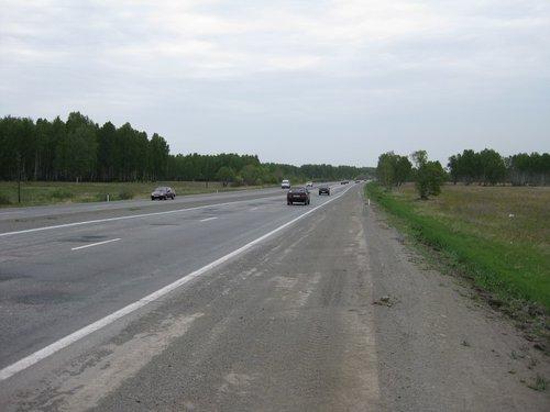 Трасса М-5 в Челябинской области.
