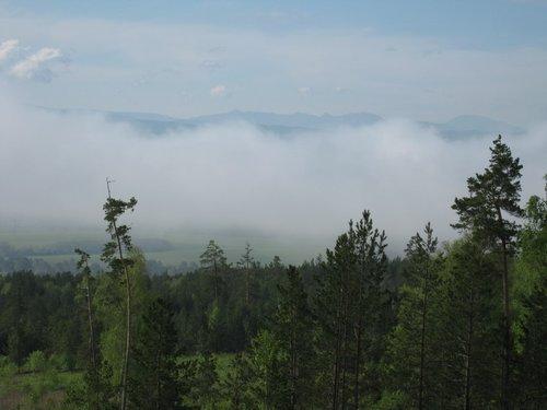 Утренний туман в горах.
