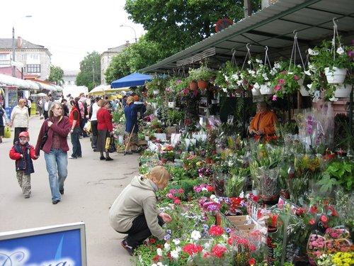 Цветочный базар.