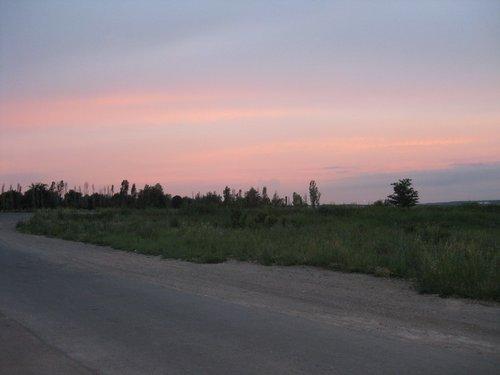 Закат под Луганском.