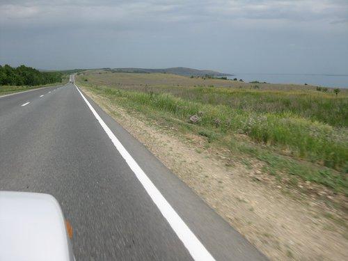 Трасса вдоль Волги.