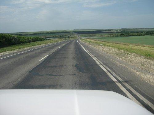 Степные просторы в Саратовской области.