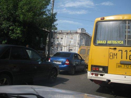 В Сызрани тоже бывают пробки.
