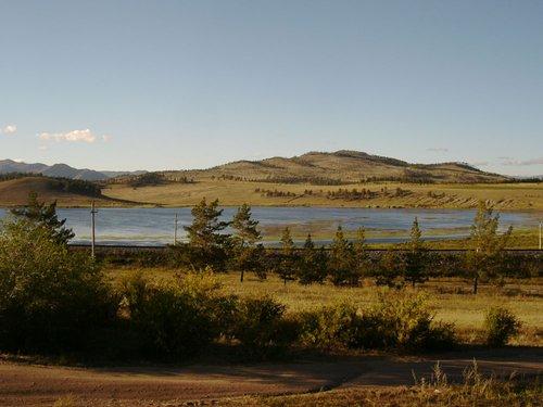 Озеро Щучье, в 10 километрах от Гусиноозерска.