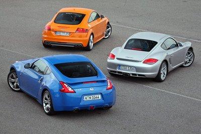 Эта троица уже встречалась на гоночной трассе. Но тогда TTS был совсем свежим, Nissan назывался еще 350Z, а Cayman\