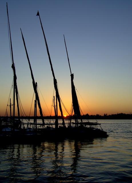 Закат на Ниле.