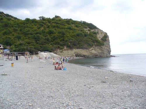 Пляж в Абрау-Дюрсо.